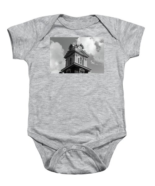 Historic Courthouse Steeple In Bw Baby Onesie