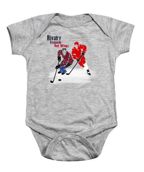 Hockey Rivalry Avalanche Red Wings Shirt Baby Onesie
