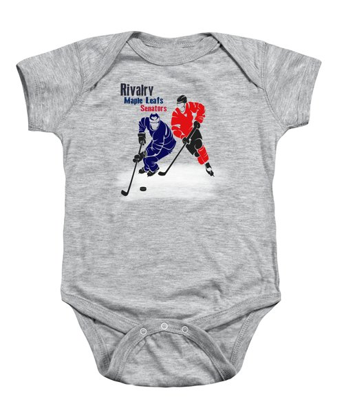 Hockey Rivalry Maple Leafs Senators Shirt Baby Onesie by Joe Hamilton