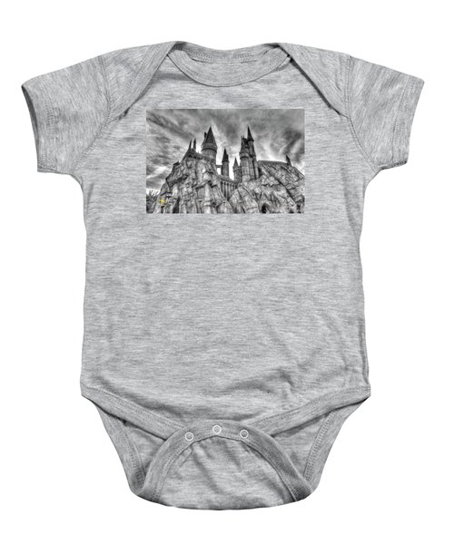 Baby Onesie featuring the photograph Hogwarts Castle 1 by Jim Thompson