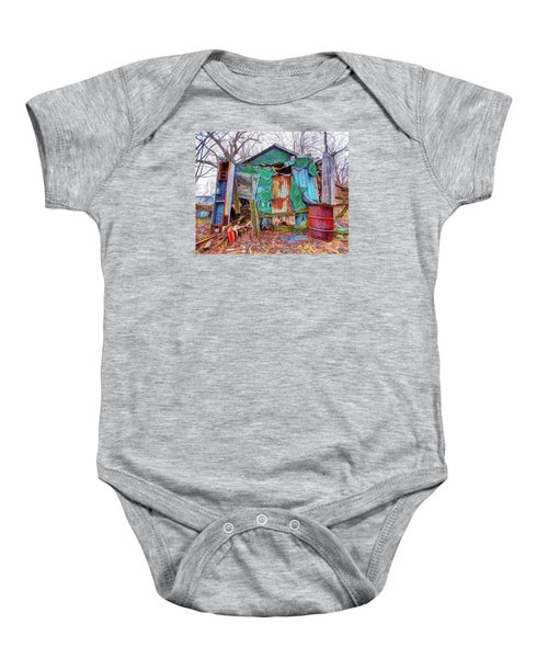 Holding On To Reality Baby Onesie