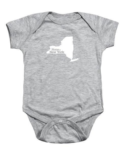 Home Is New York Baby Onesie