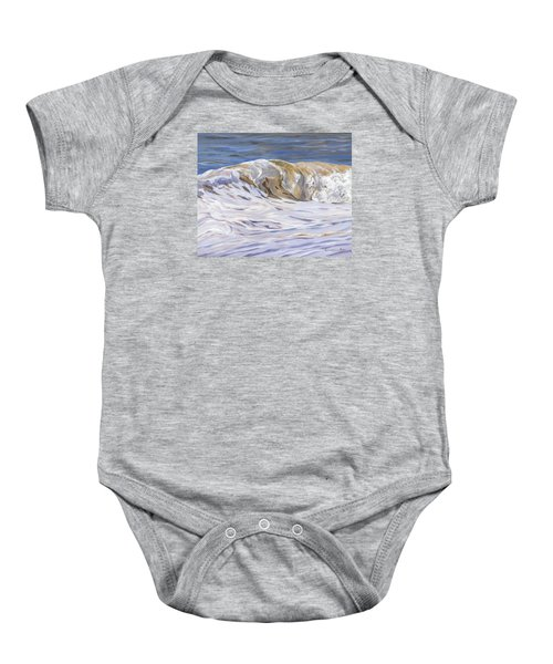 Baby Onesie featuring the painting Honey Wave by Lawrence Dyer