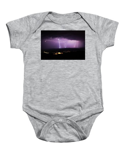 Horizontal And Vertical Lightning Baby Onesie