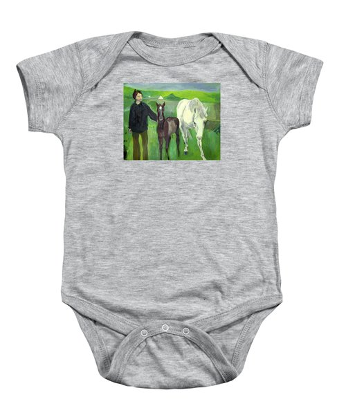 Horse And Foal Baby Onesie