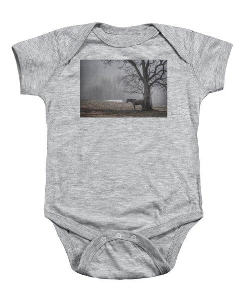 Horse And Tree Baby Onesie