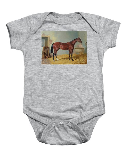 Horse In A Stable Baby Onesie