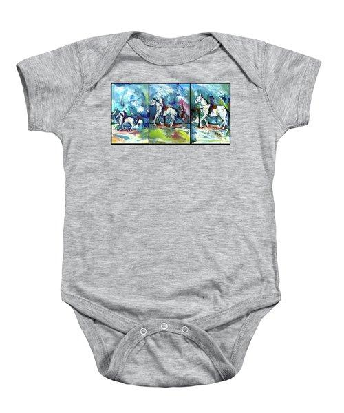 Horse Three Baby Onesie