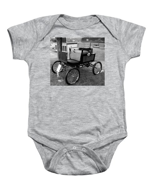 Horseless Carriage-bw Baby Onesie