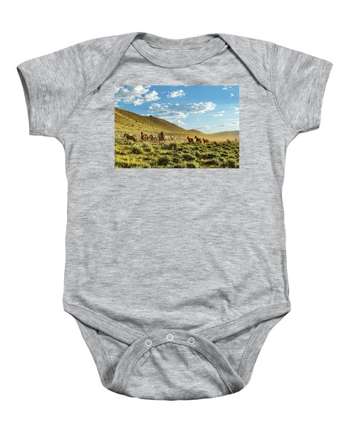 Horses And More Horses Baby Onesie