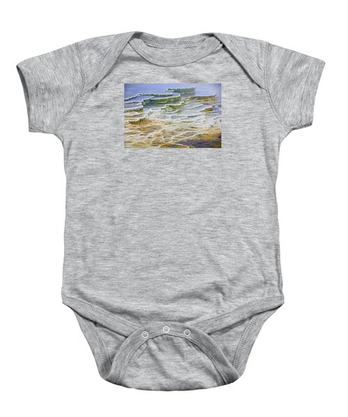 Baby Onesie featuring the photograph Hot Springs Runoff by Gary Lengyel