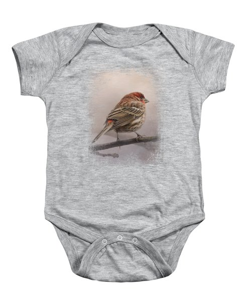 House Finch In January Baby Onesie by Jai Johnson