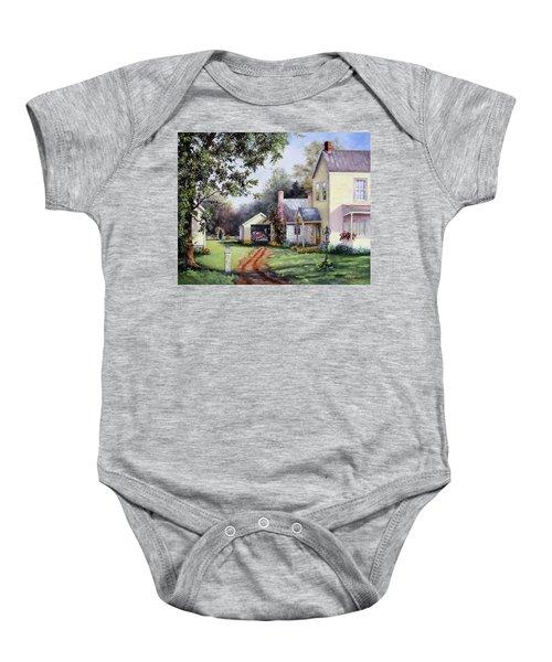 House On Bird Street Baby Onesie