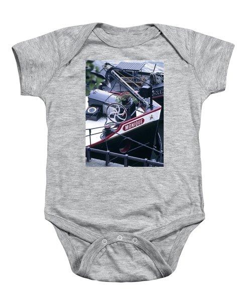 Houseboat In France Baby Onesie