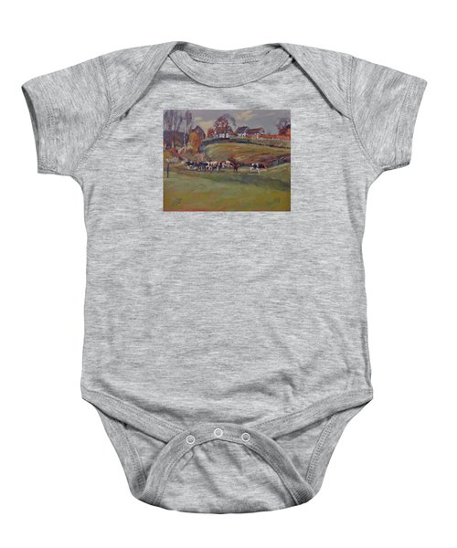 Houses And Cows In Schweiberg Baby Onesie
