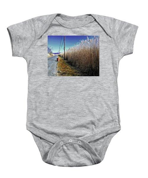 Hudson River Winter Walk Baby Onesie