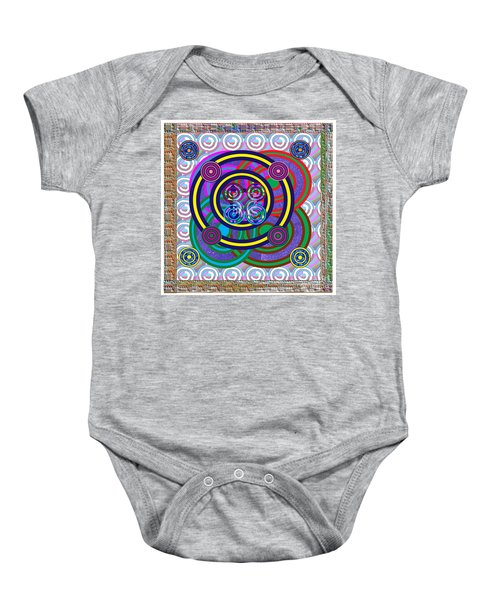Hula Hoop Circles Tubes Girls Games Abstract Colorful Wallart Interior Decorations Artwork By Navinj Baby Onesie by Navin Joshi