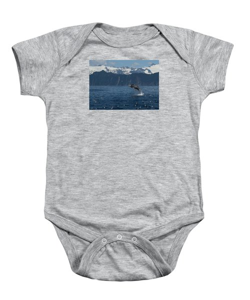 Humback Whale Arching Breach Baby Onesie