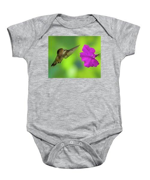Hummingbird And Flower Baby Onesie