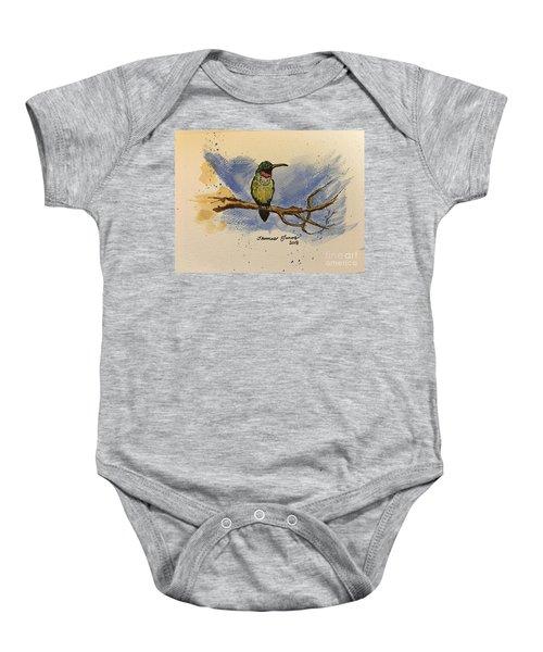 Hummingbird At Rest Baby Onesie