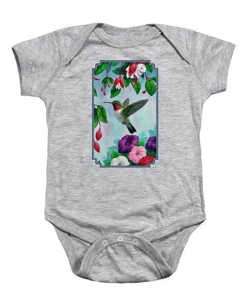 Hummingbird Greeting Card 1 Baby Onesie