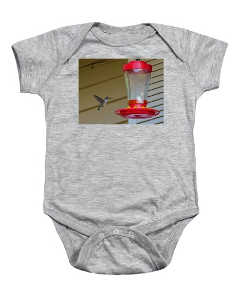Hummingbird In Flight Baby Onesie