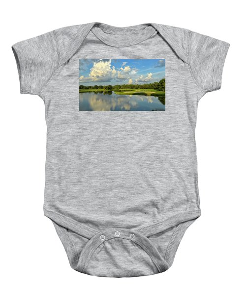 Hunter's Green Hole 18 Baby Onesie