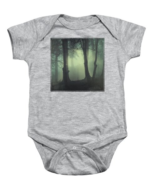 I Am Not My Usual Self - Foggy Forest Baby Onesie