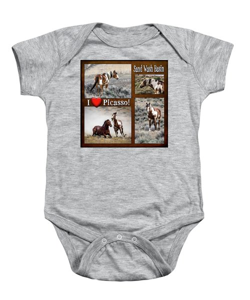 I Love Picasso Collage Baby Onesie