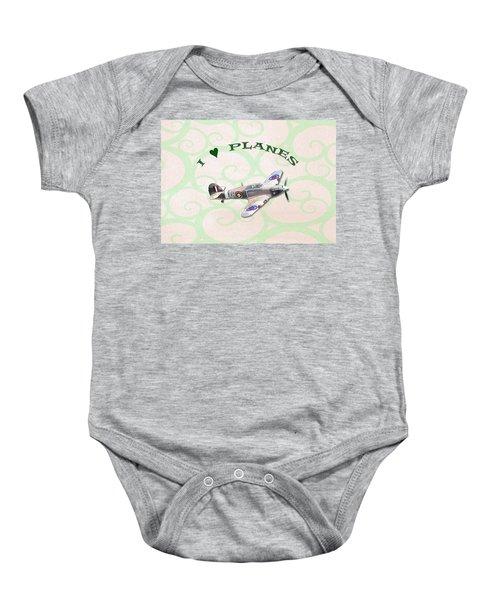 I Love Planes - Hurricane Baby Onesie
