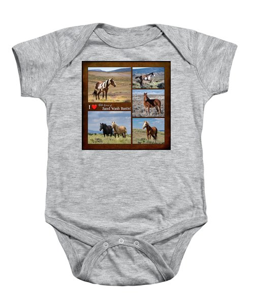 I Love Wild Horses Of Sand Wash Basin Baby Onesie