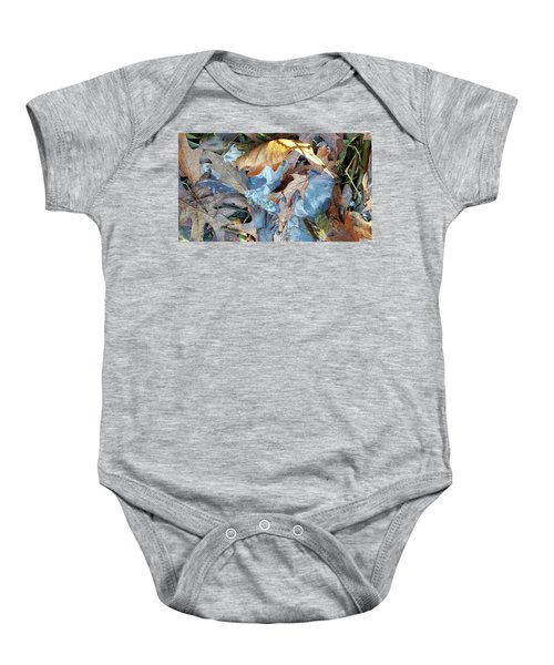 Ice And Fallen Leaves Baby Onesie