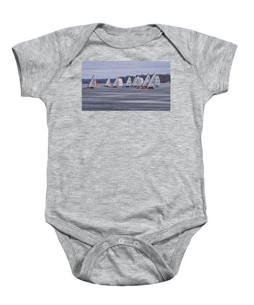 Ice Boat Racing - Madison - Wisconsin Baby Onesie