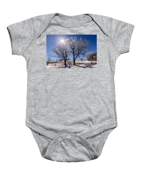 Ice Coated Trees Baby Onesie