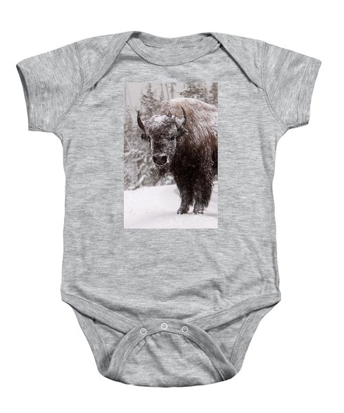Ice Cold Winter Buffalo Baby Onesie