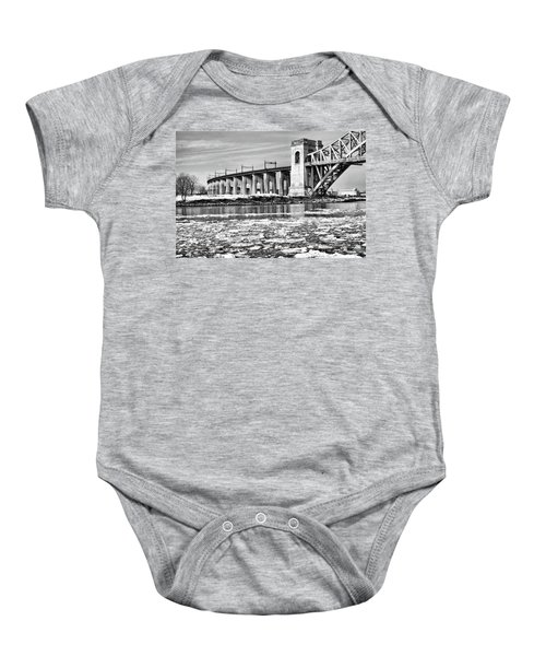Ice Flows On The East River Baby Onesie