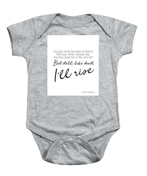 I'll Rise #minimalism Baby Onesie