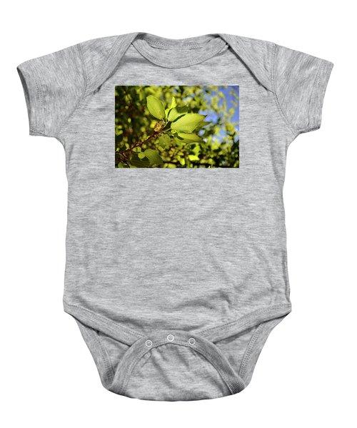 Illuminated Leaves Baby Onesie