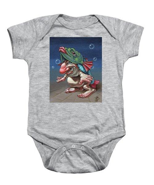 In A Fish Suit. Baby Onesie