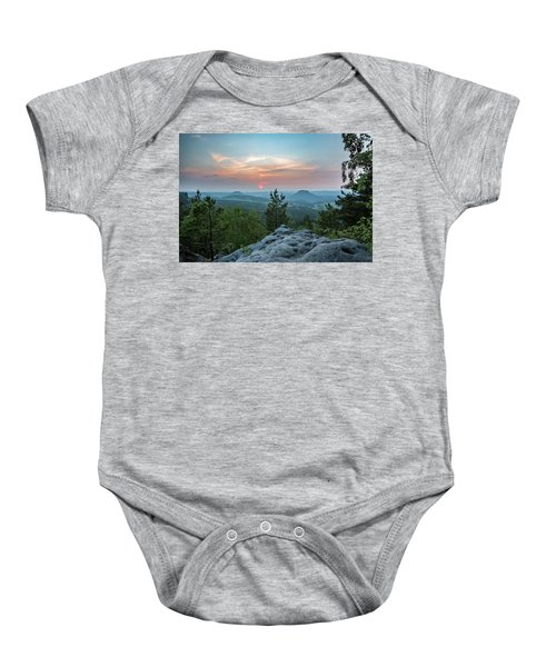 In The Land Of Mesas Baby Onesie
