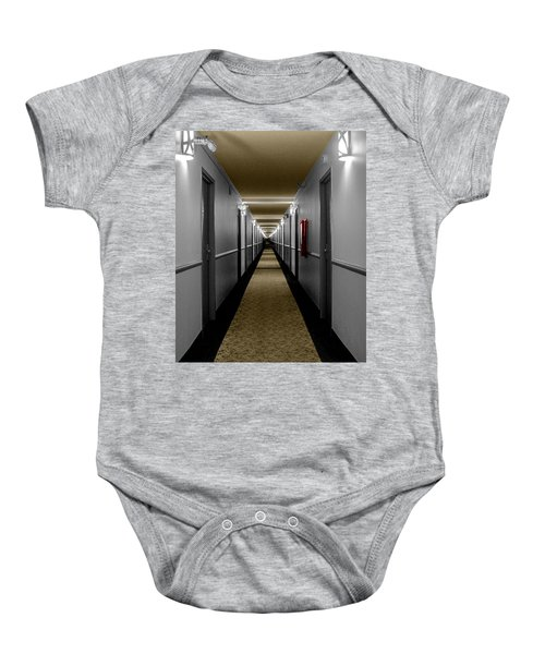 In The Long Hall Baby Onesie