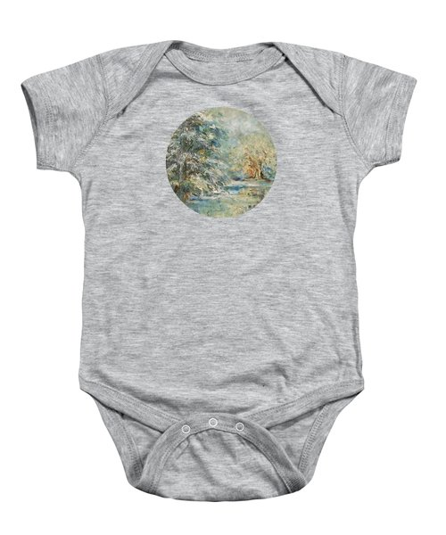 In The Snowy Silence Baby Onesie by Mary Wolf