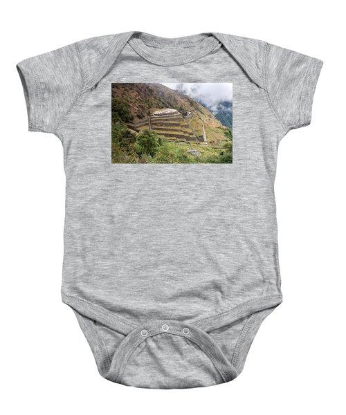 Inca Ruins And Terraces Baby Onesie