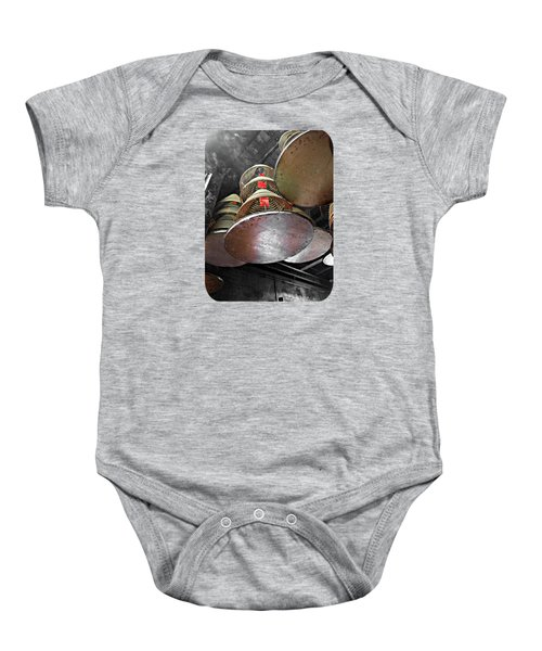 Incense Trays Baby Onesie by Ethna Gillespie