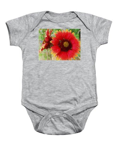 Indian Blanket Flowers Baby Onesie