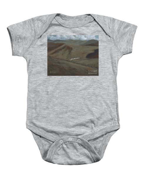 Indian Lodge - A View From The Top Ft. Davis, Tx Baby Onesie