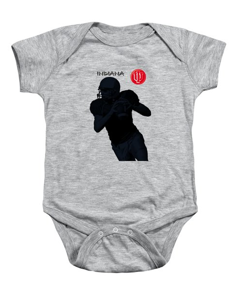 Baby Onesie featuring the digital art Indiana Football by David Dehner