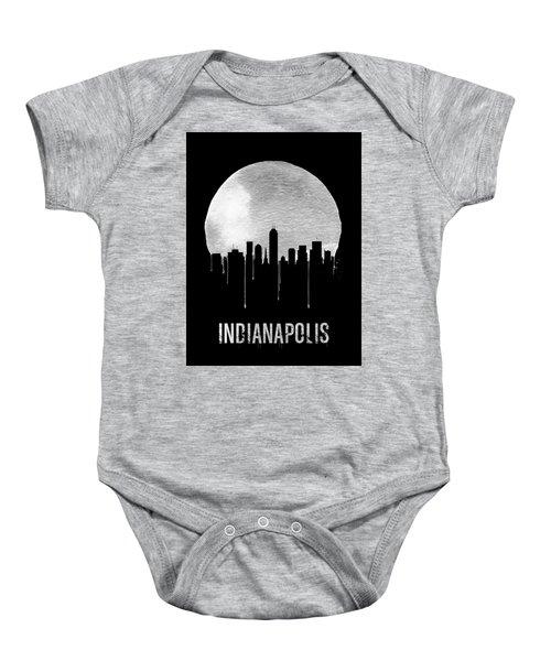 Indianapolis Skyline Black Baby Onesie