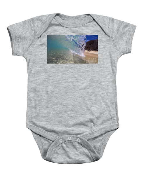 Inside The Curl Big Beach Maui Wave Baby Onesie