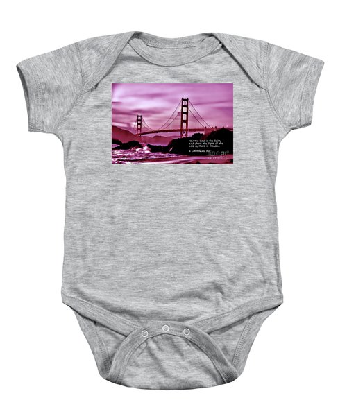 Inspirational - Nightfall At The Golden Gate Baby Onesie
